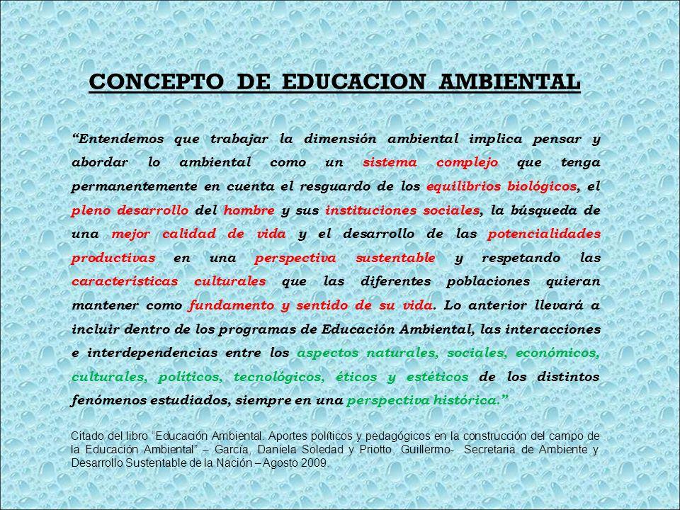 CONCEPTO DE EDUCACION AMBIENTAL