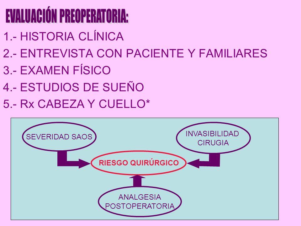 EVALUACIÓN PREOPERATORIA: