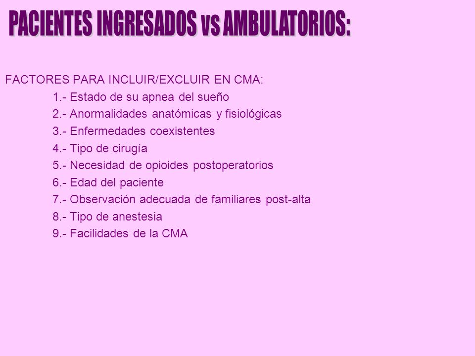 PACIENTES INGRESADOS vs AMBULATORIOS: