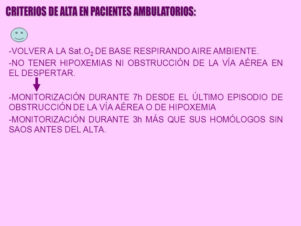 CRITERIOS DE ALTA EN PACIENTES AMBULATORIOS: