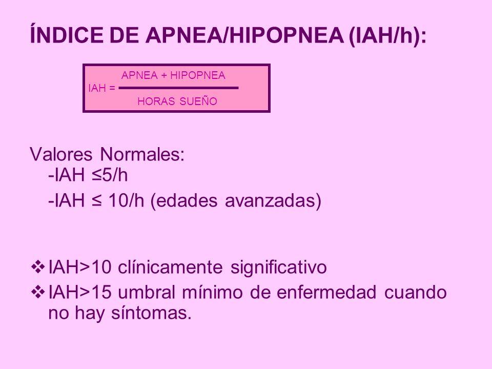 ÍNDICE DE APNEA/HIPOPNEA (IAH/h):