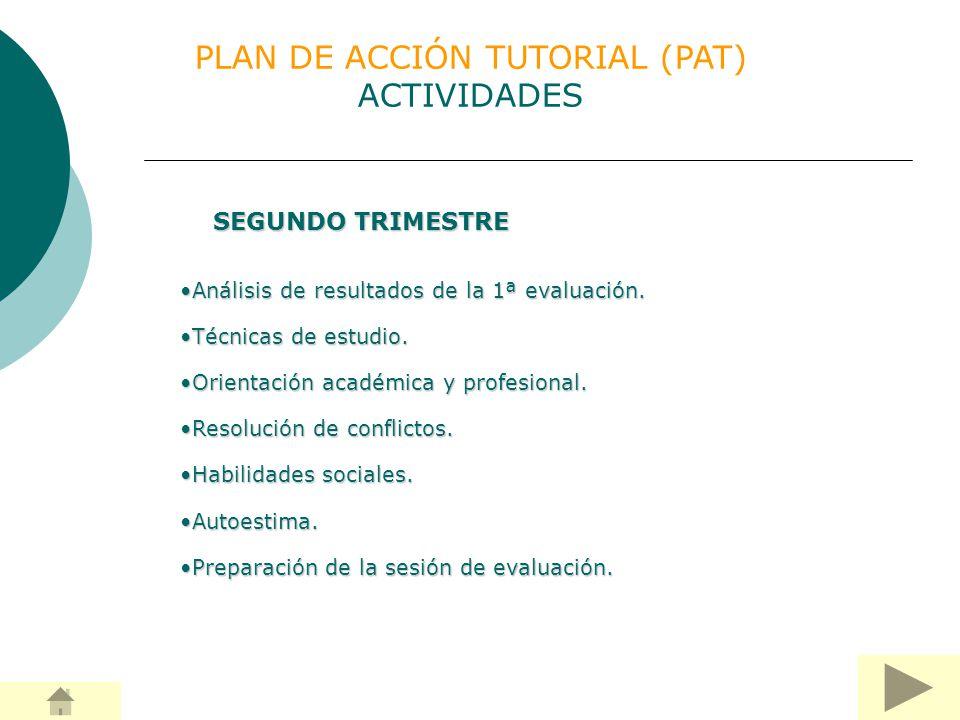 PLAN DE ACCIÓN TUTORIAL (PAT) ACTIVIDADES