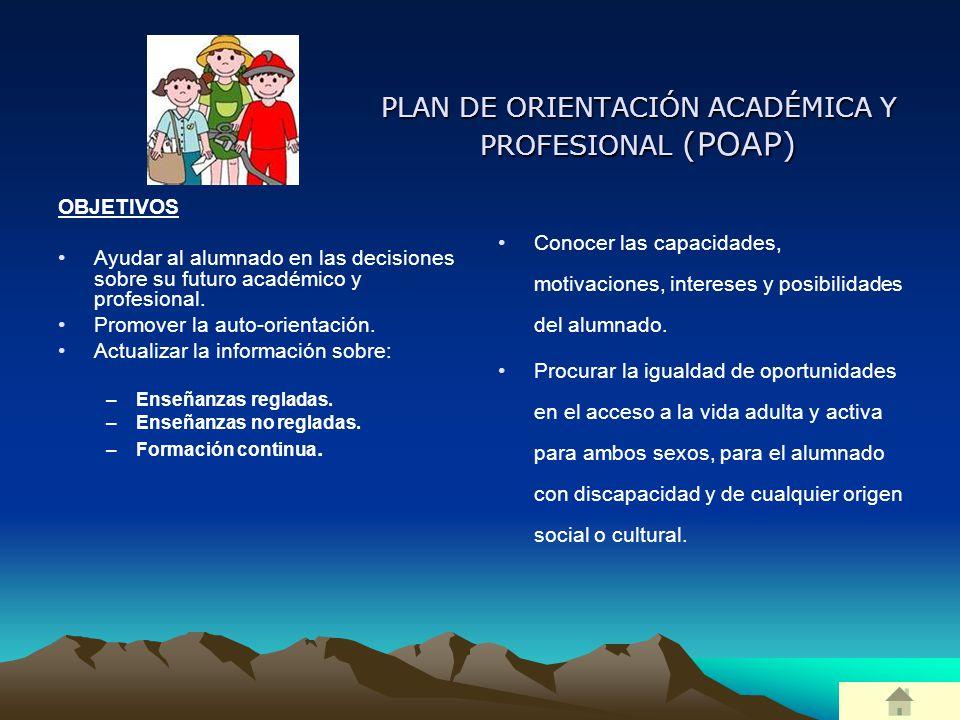 PLAN DE ORIENTACIÓN ACADÉMICA Y PROFESIONAL (POAP)