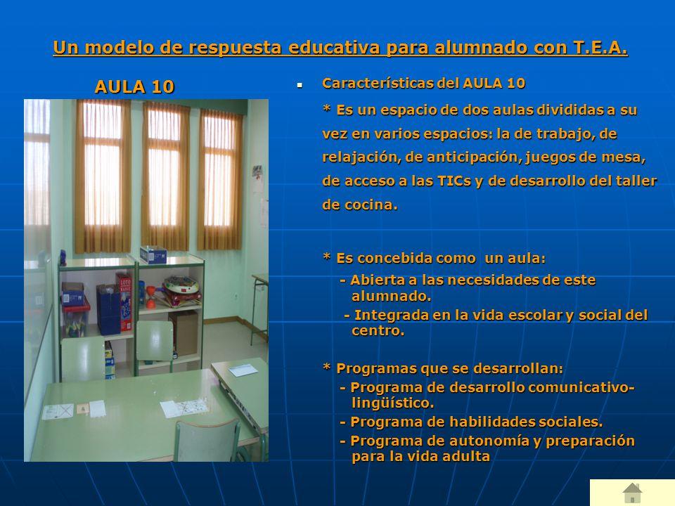 Un modelo de respuesta educativa para alumnado con T.E.A.