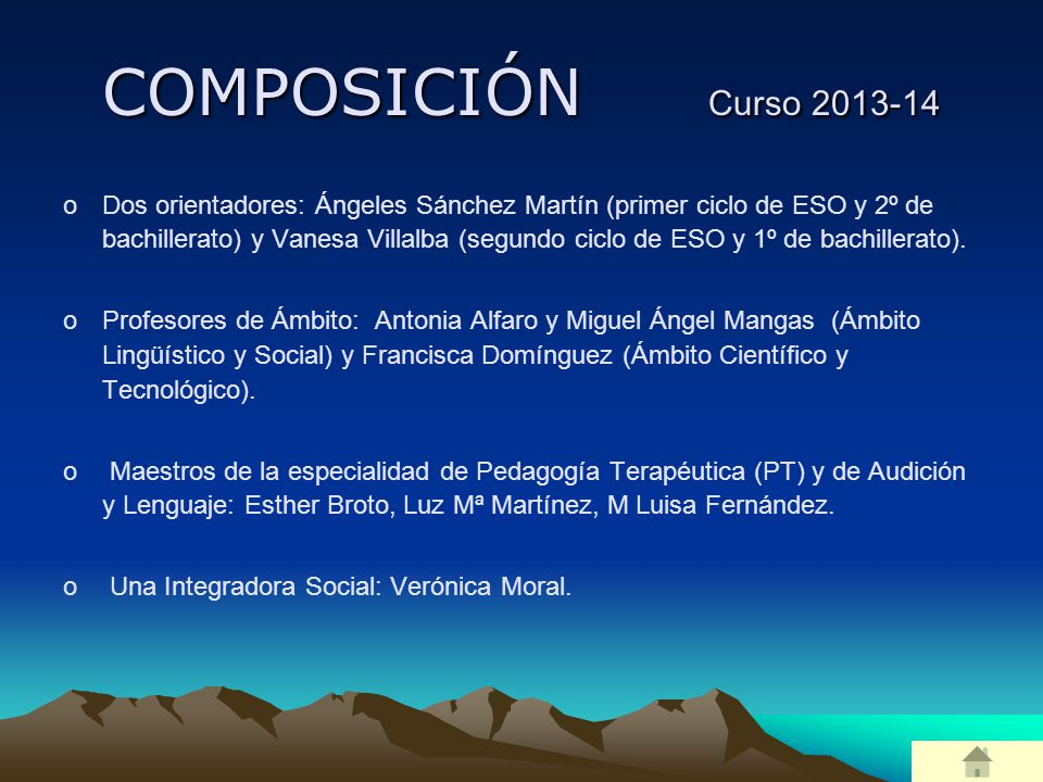 COMPOSICIÓN Curso 2013-14