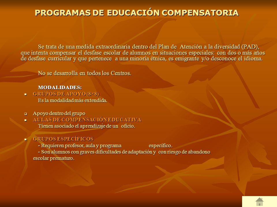 PROGRAMAS DE EDUCACIÓN COMPENSATORIA