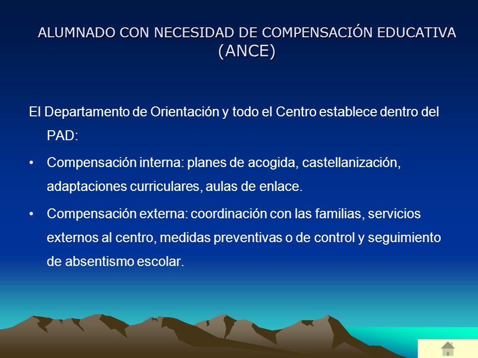 ALUMNADO CON NECESIDAD DE COMPENSACIÓN EDUCATIVA (ANCE)