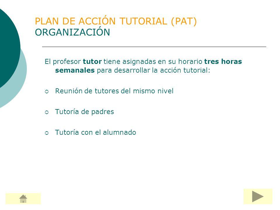 PLAN DE ACCIÓN TUTORIAL (PAT) ORGANIZACIÓN
