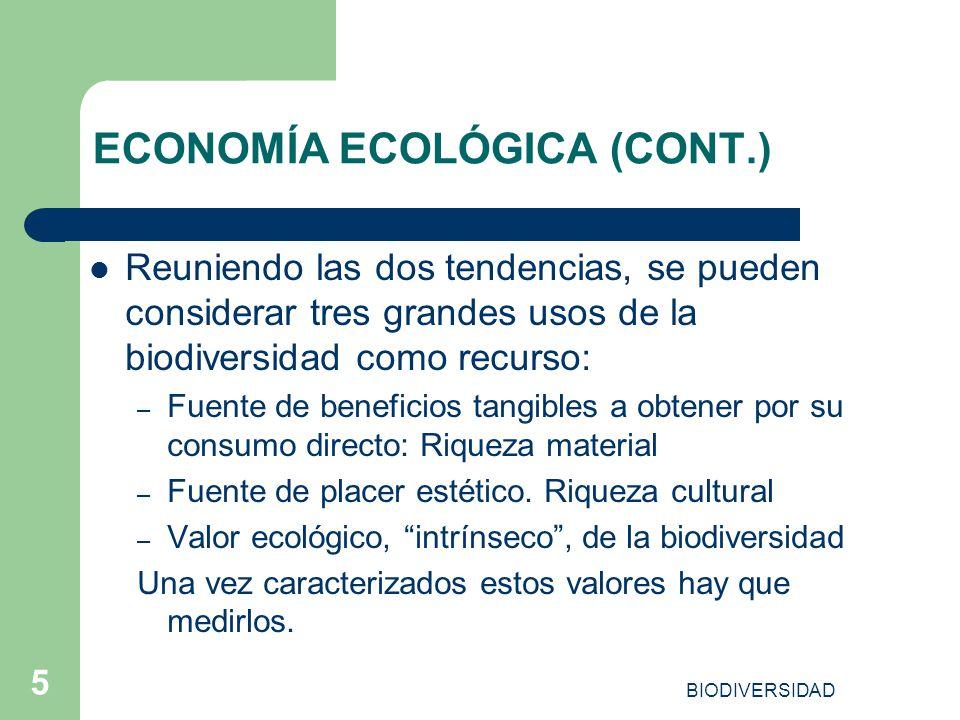 ECONOMÍA ECOLÓGICA (CONT.)