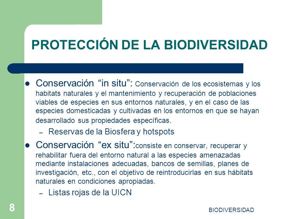 PROTECCIÓN DE LA BIODIVERSIDAD