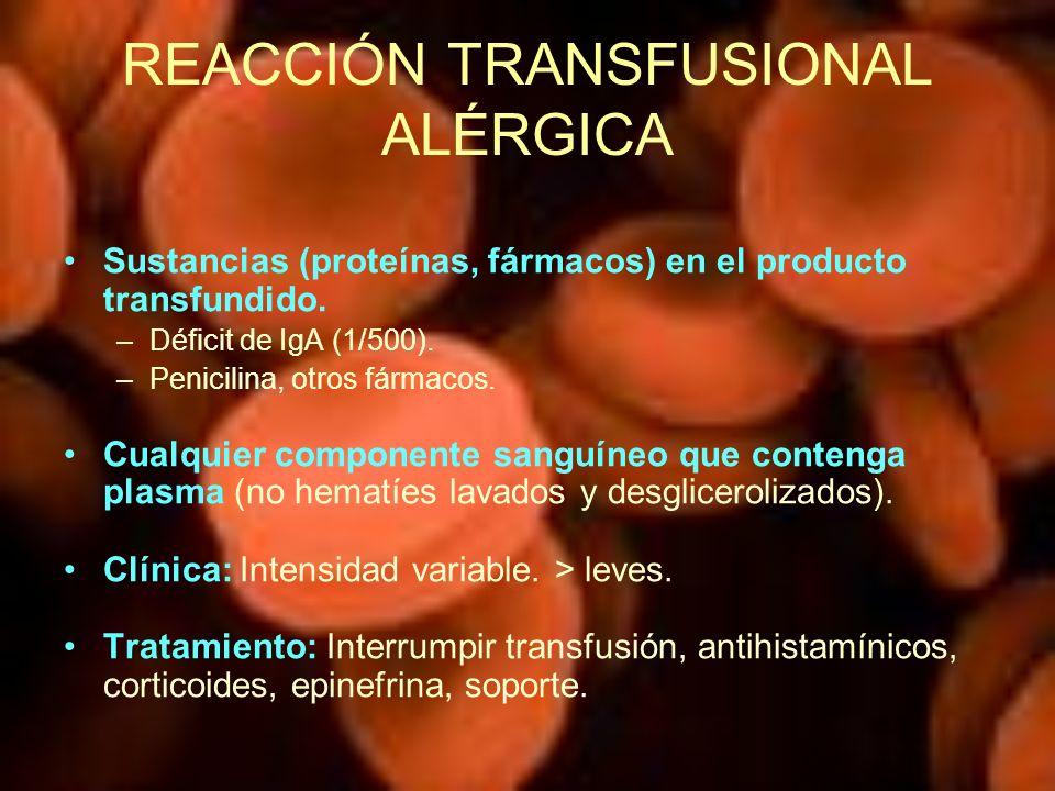 REACCIÓN TRANSFUSIONAL ALÉRGICA