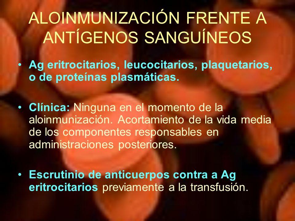 ALOINMUNIZACIÓN FRENTE A ANTÍGENOS SANGUÍNEOS