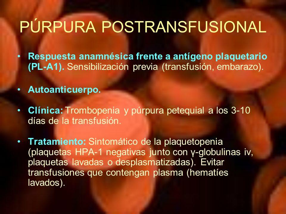 PÚRPURA POSTRANSFUSIONAL