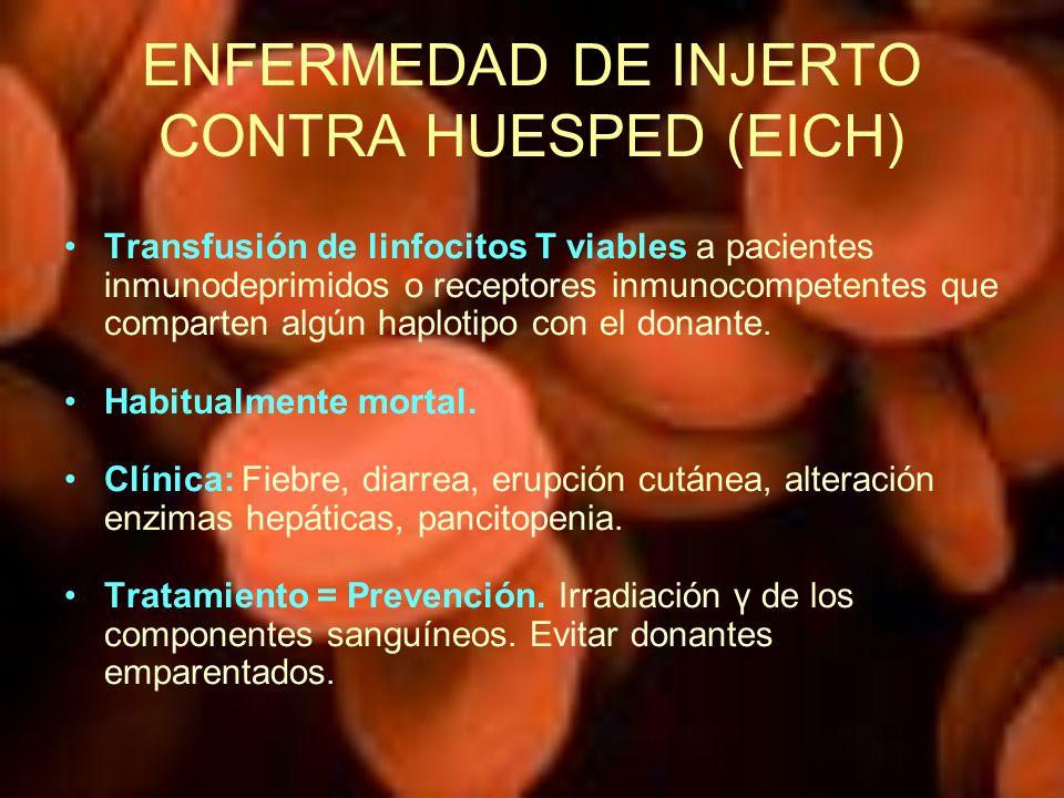 ENFERMEDAD DE INJERTO CONTRA HUESPED (EICH)