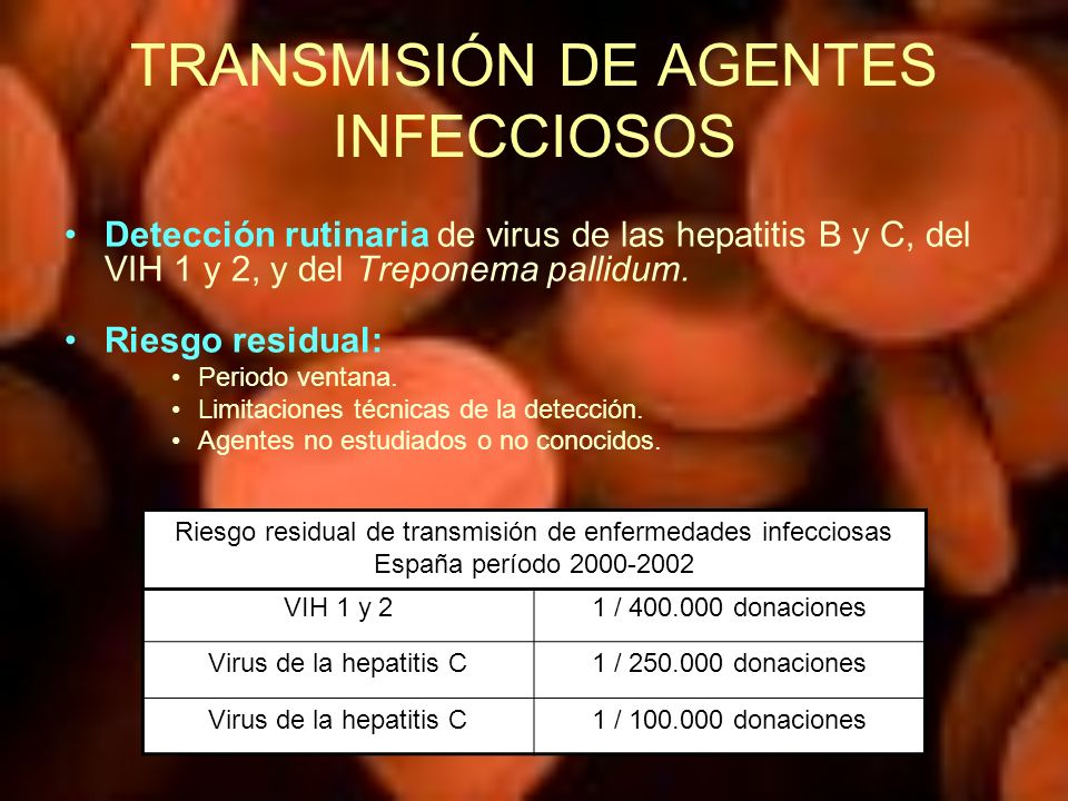 TRANSMISIÓN DE AGENTES INFECCIOSOS
