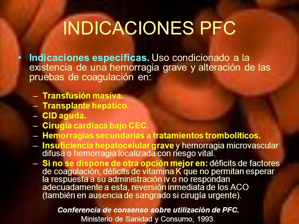 Conferencia de consenso sobre utilización de PFC.