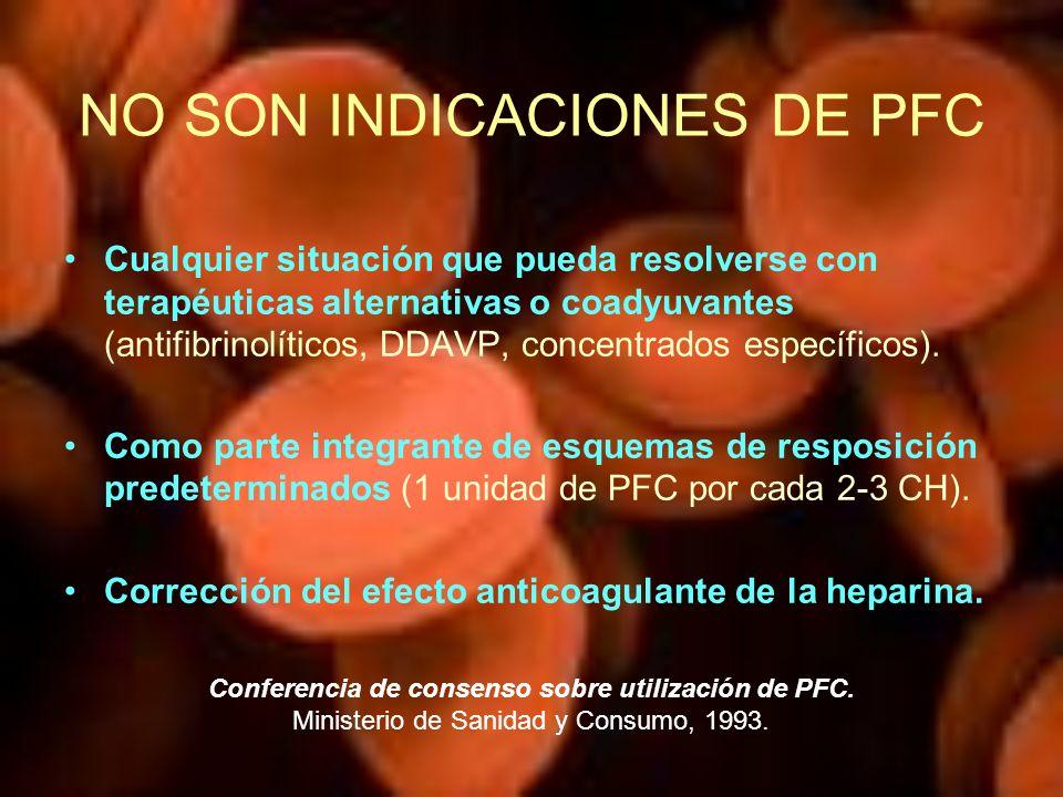 NO SON INDICACIONES DE PFC