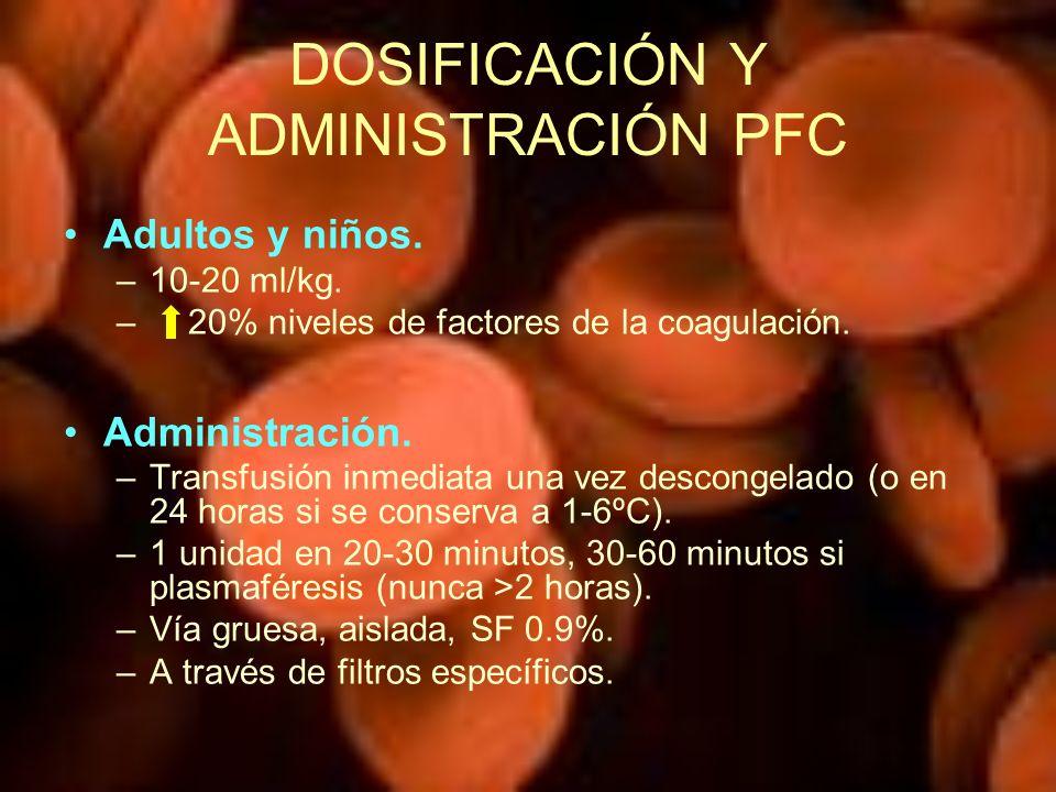DOSIFICACIÓN Y ADMINISTRACIÓN PFC