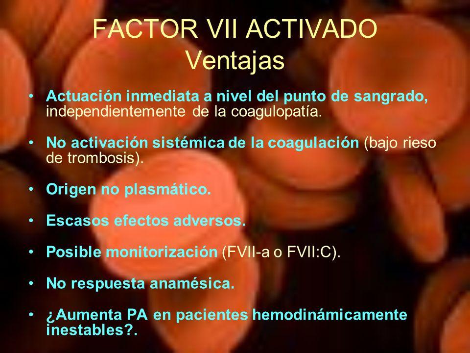 FACTOR VII ACTIVADO Ventajas