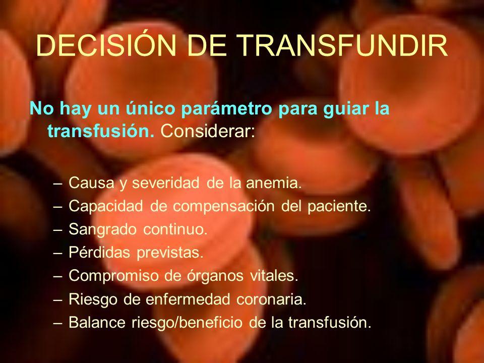 DECISIÓN DE TRANSFUNDIR