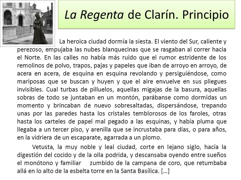 La Regenta de Clarín. Principio