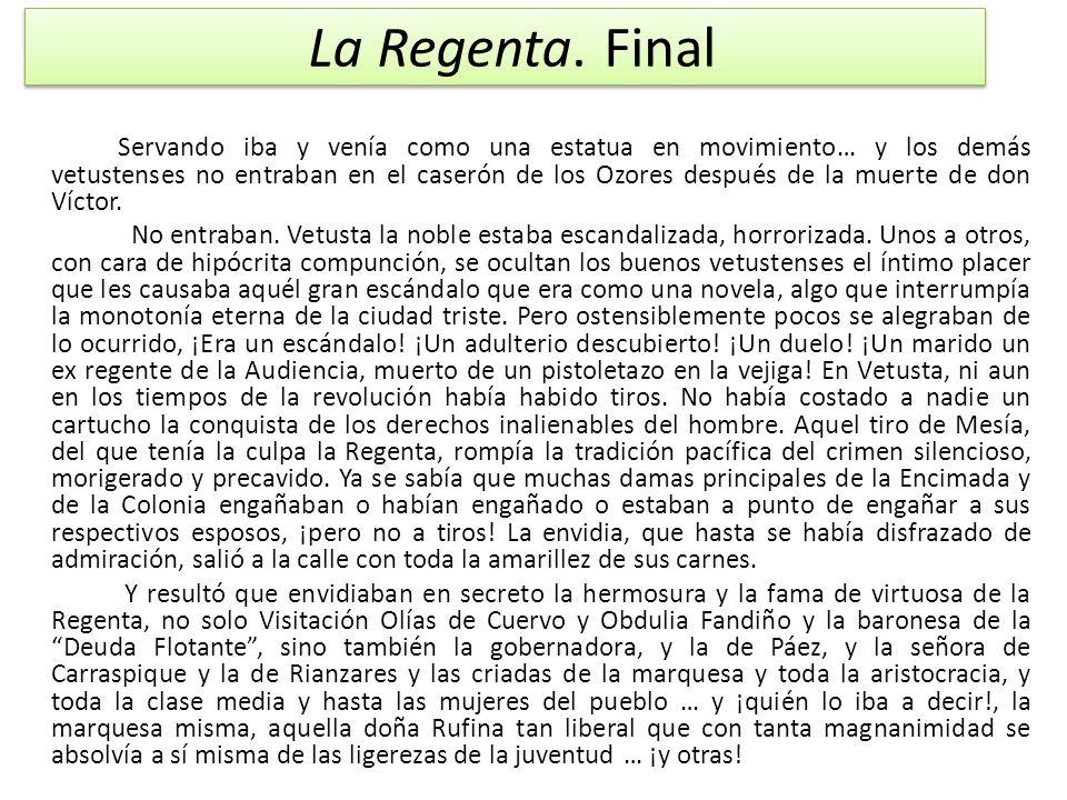 La Regenta. Final