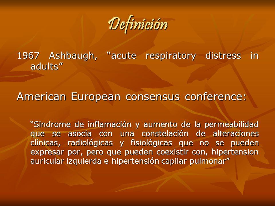 Definición American European consensus conference: