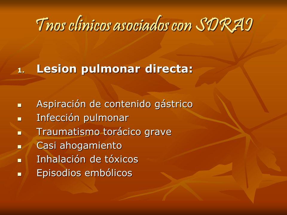 Tnos clinicos asociados con SDRAI