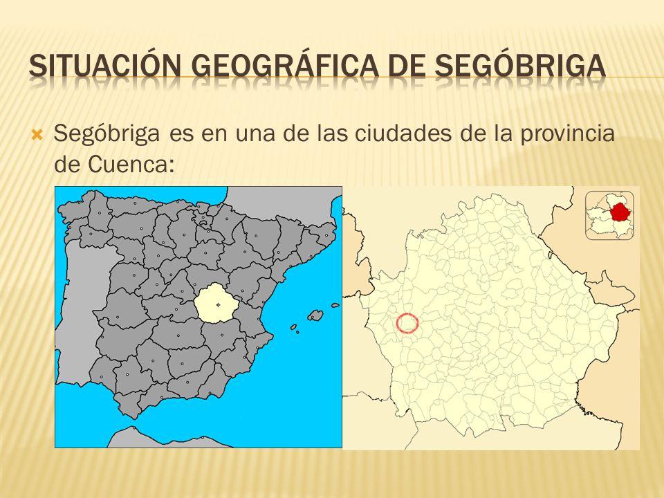 Situación Geográfica de segóbriga
