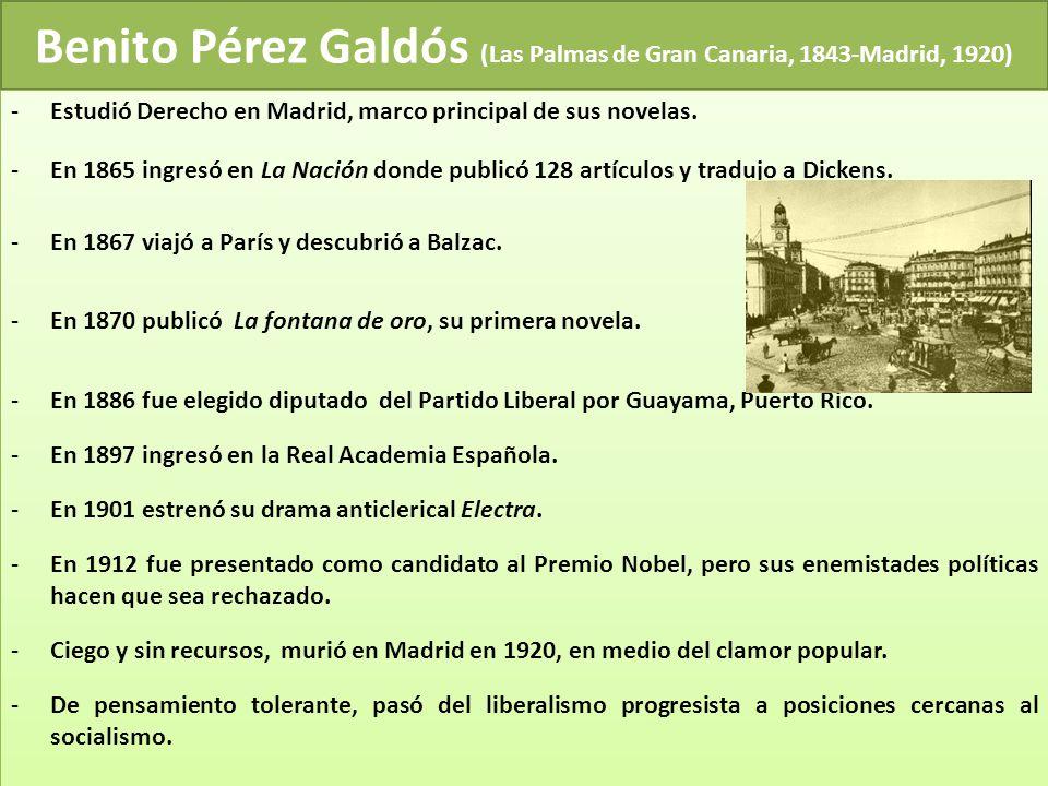 Benito Pérez Galdós (Las Palmas de Gran Canaria, 1843-Madrid, 1920)