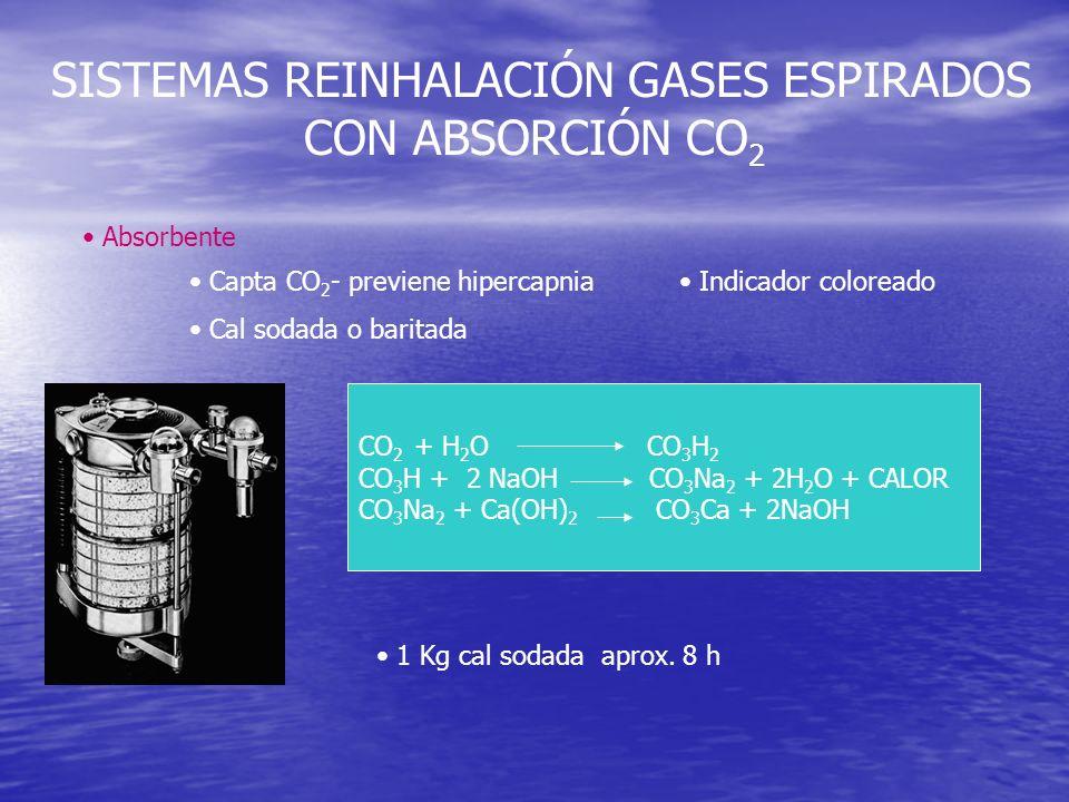 SISTEMAS REINHALACIÓN GASES ESPIRADOS CON ABSORCIÓN CO2