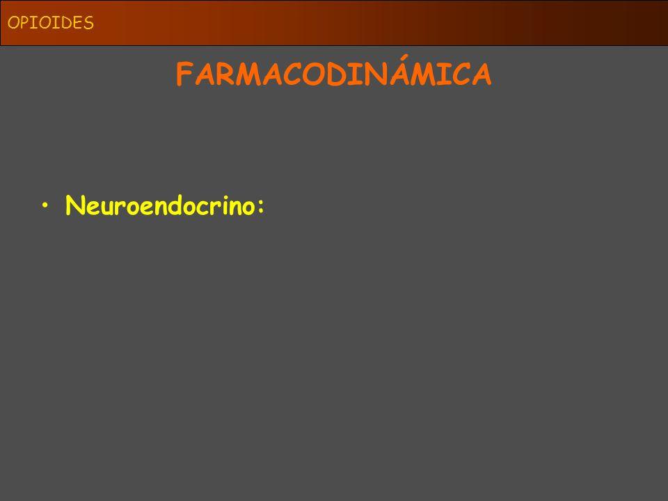 OPIOIDES FARMACODINÁMICA Neuroendocrino: