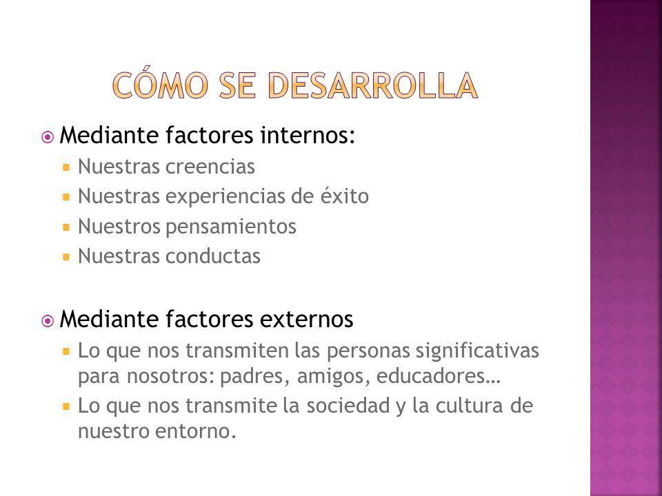 Cómo se desarrolla Mediante factores internos: