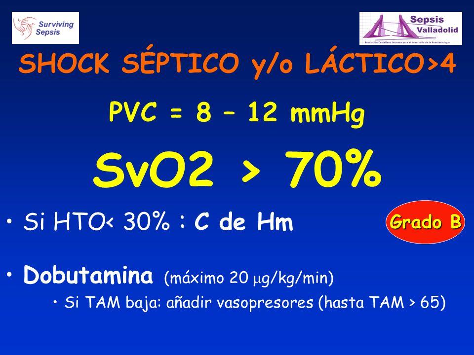 SHOCK SÉPTICO y/o LÁCTICO>4