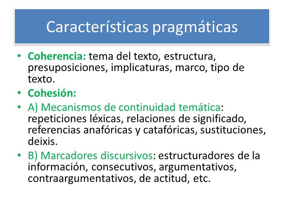Características pragmáticas