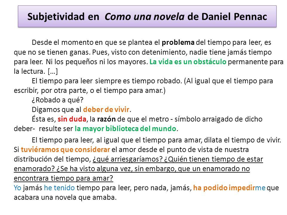 Subjetividad en Como una novela de Daniel Pennac