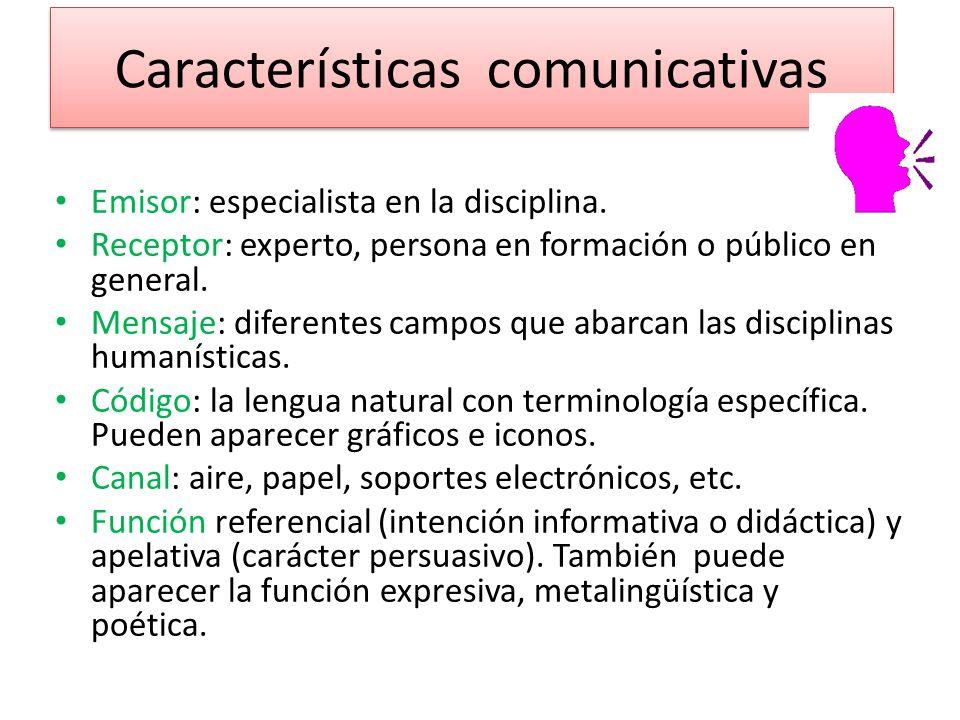 Características comunicativas
