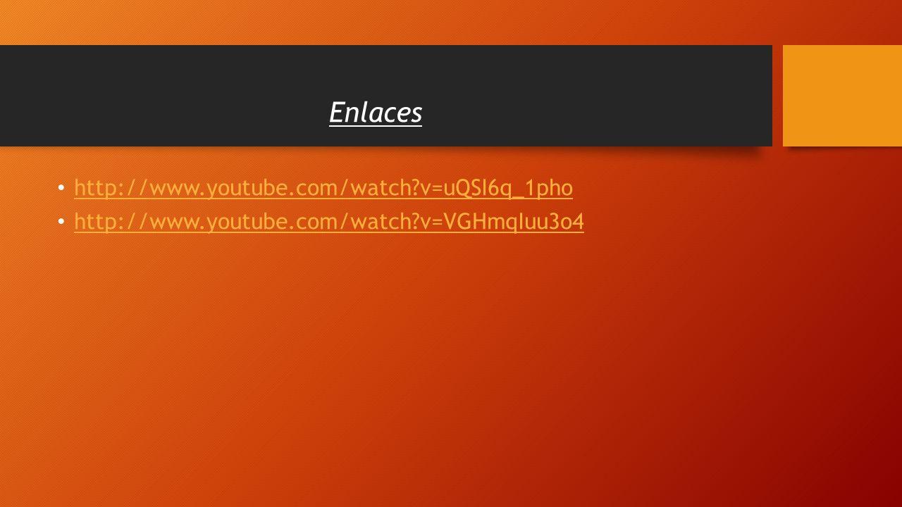 Enlaces http://www.youtube.com/watch v=uQSI6q_1pho