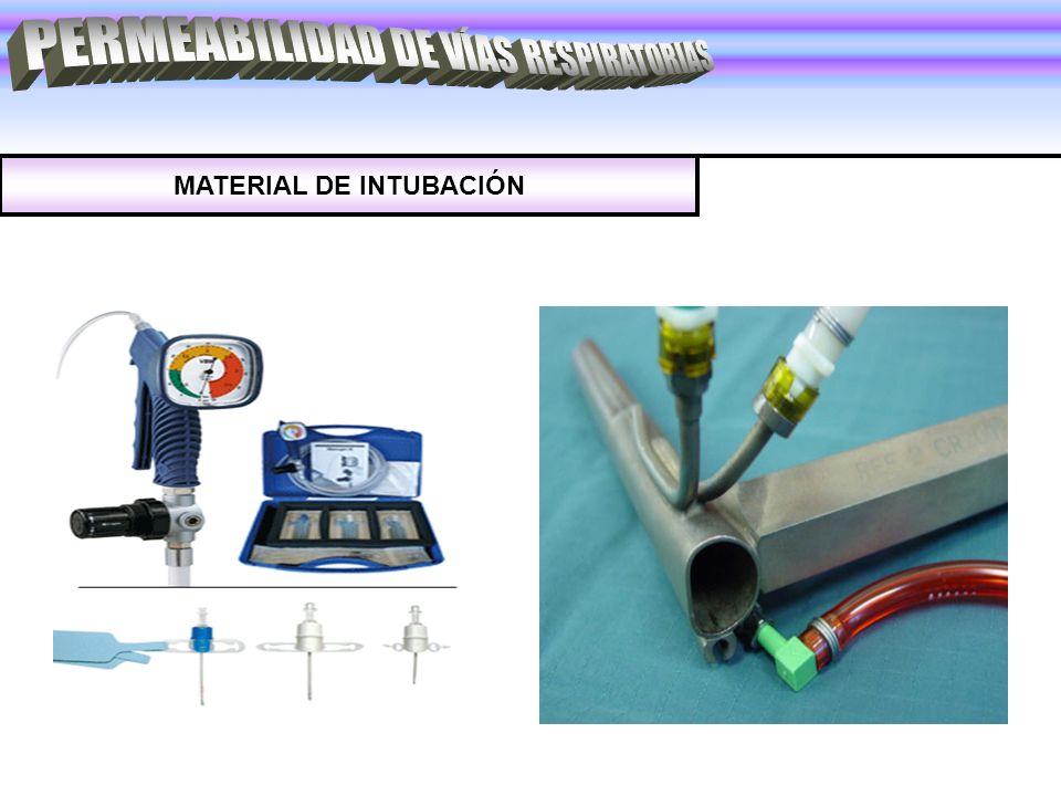 MATERIAL DE INTUBACIÓN