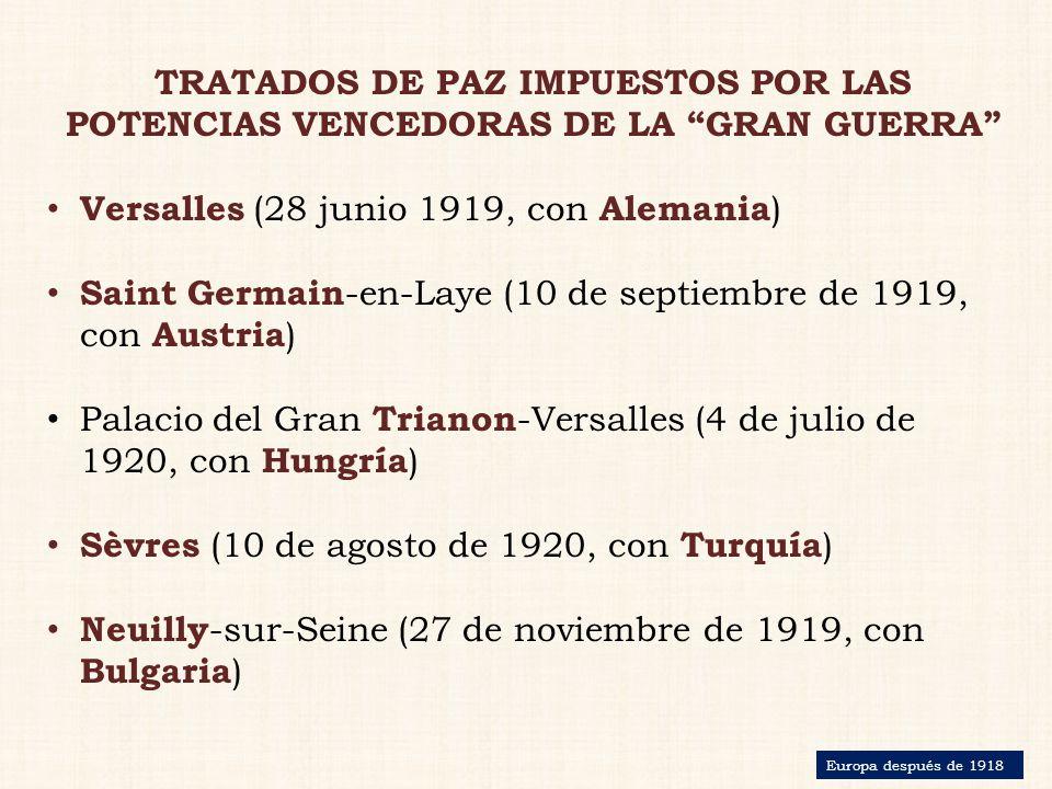 Versalles (28 junio 1919, con Alemania)