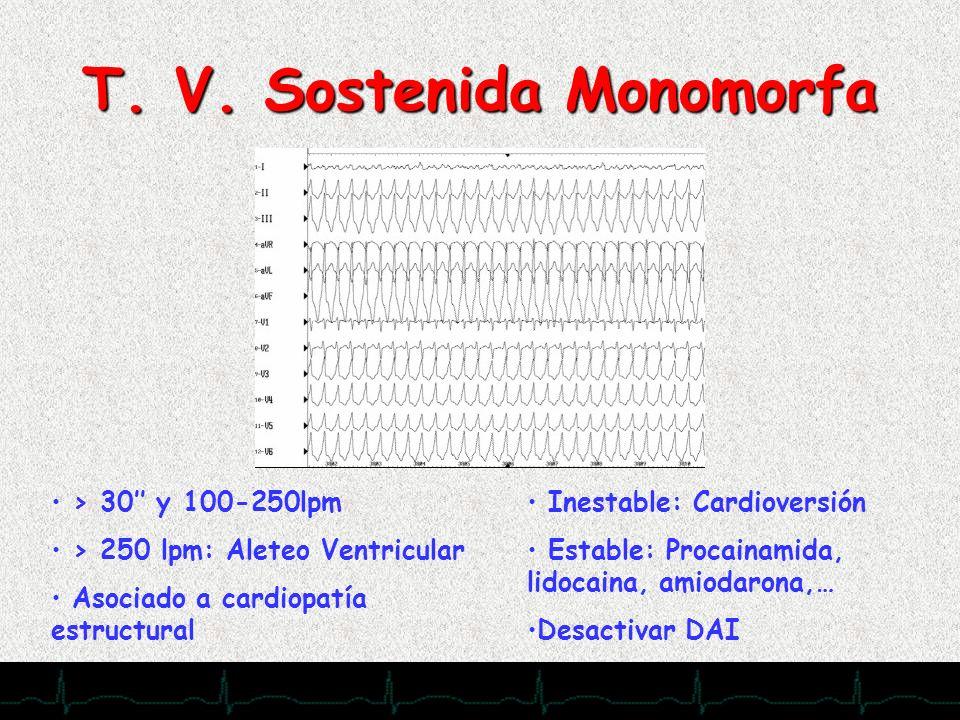 T. V. Sostenida Monomorfa