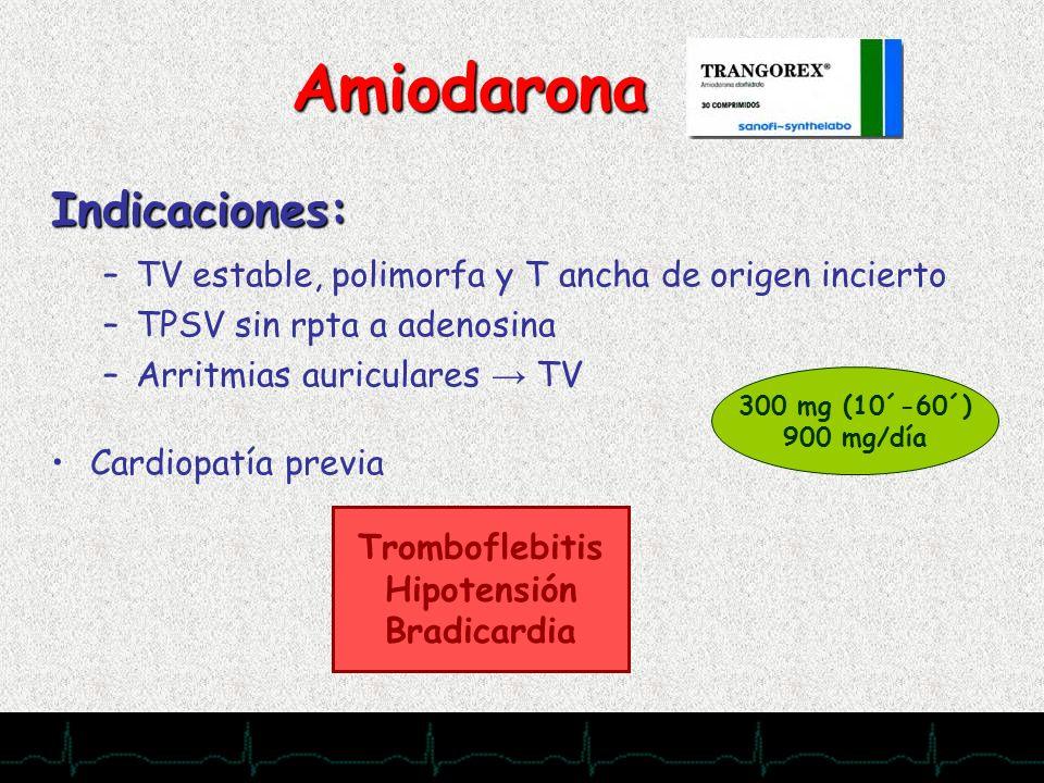 Amiodarona Indicaciones: