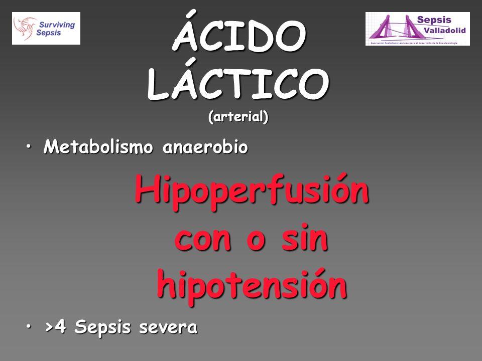 ÁCIDO LÁCTICO (arterial)