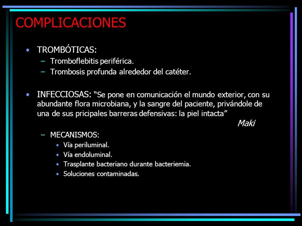 COMPLICACIONES TROMBÓTICAS: