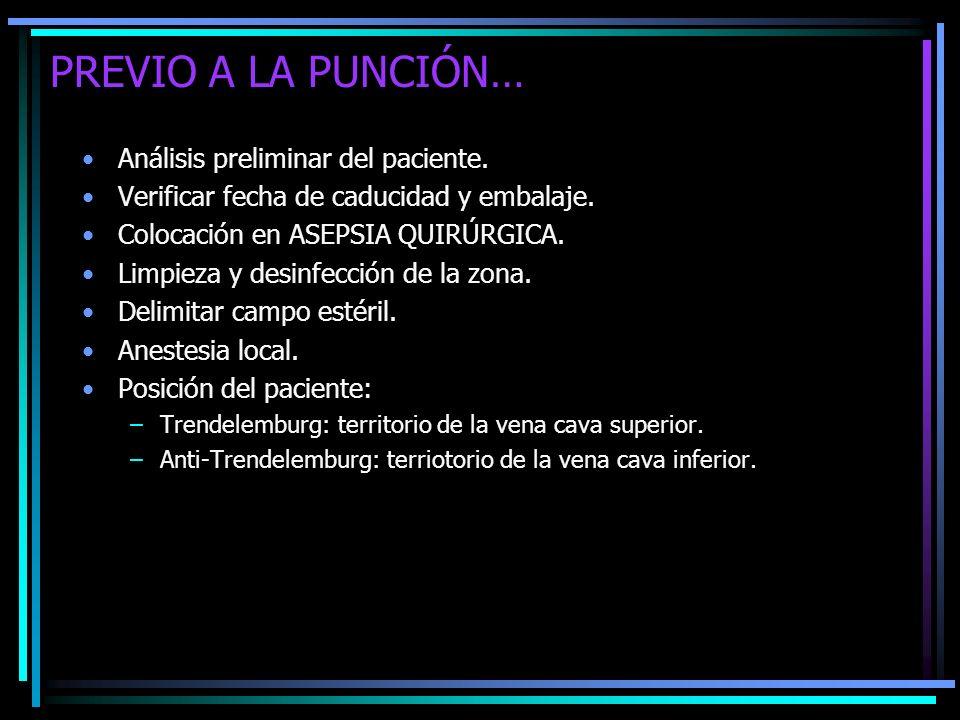 PREVIO A LA PUNCIÓN… Análisis preliminar del paciente.