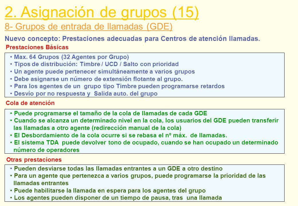2. Asignación de grupos (15)