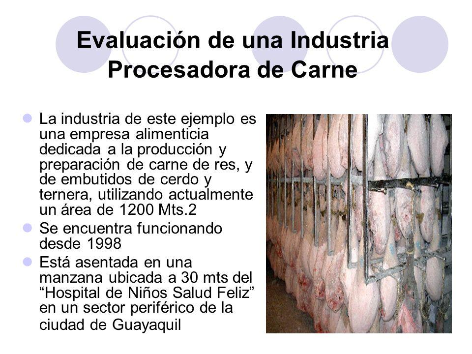 Evaluación de una Industria Procesadora de Carne