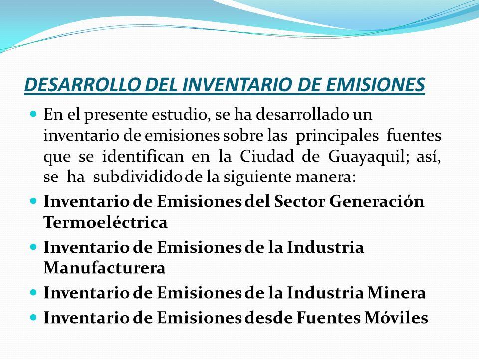 DESARROLLO DEL INVENTARIO DE EMISIONES