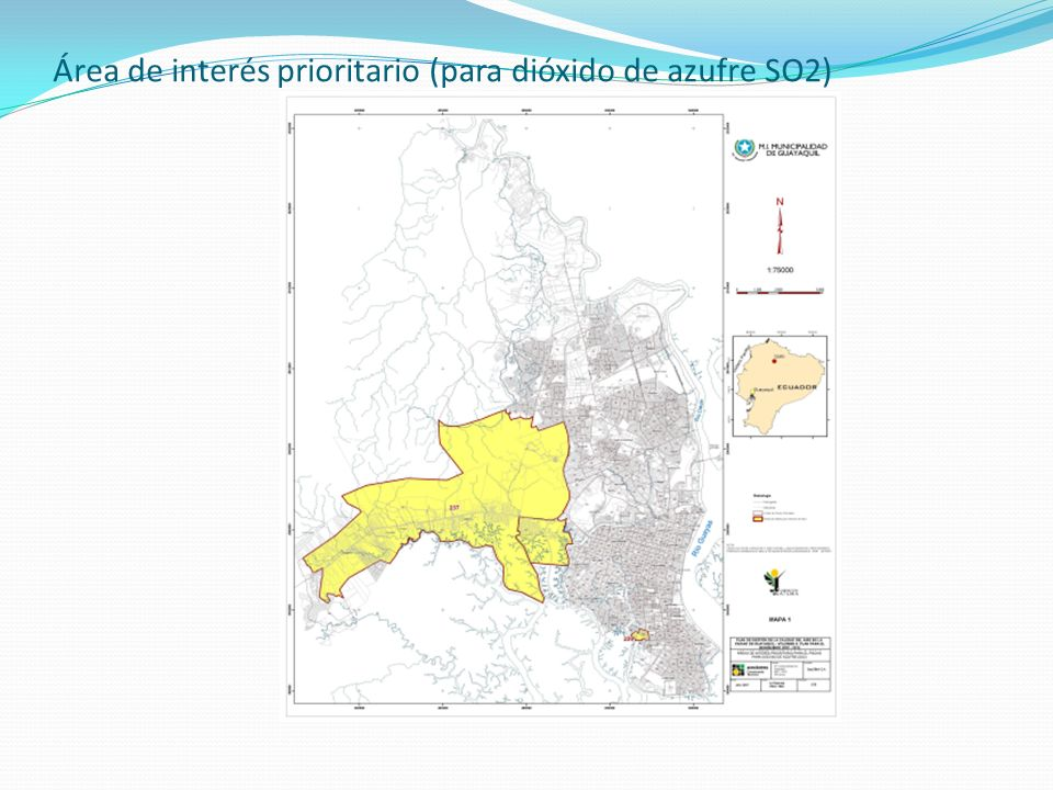 Área de interés prioritario (para dióxido de azufre SO2)