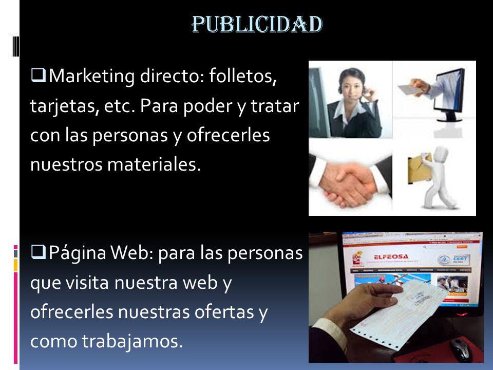 PUBLICIDAD Marketing directo: folletos,